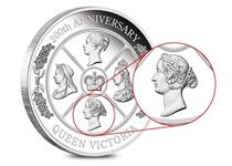 The 1oz Silver Proof coin issued by Perth Mint celebrates 200 years since Queen Victoria's birth. Features 4 effigies of Queen Victoria and comes in a Perth Mint box with numbered certificate.