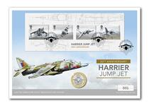 Celebrate British Engineering with the 2019 Royal Mail Harrier Miniature Sheet. Your cover includes the 2018 Royal Mint BU RAF Centenary £2 coin. Postmarked on first day of issue: 02.05.19. EL: 500.
