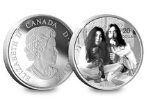 Issued to celebrate John Lennon and Yoko Ono's iconic anti-war song 'Give Peace a Chance'. Your coin comes in official Royal Canadian Mint box with numbered cert of authenticity.