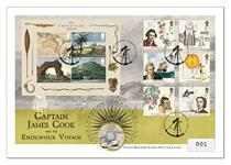 Celebrate the 250th Anniversary of Captain Cook setting sail! Features The Royal Mint's 2019 Captain Cook £2 coin and Royal Mail's 2018 Captain Cook stamps and miniature sheets. Edition limit: 1000.
