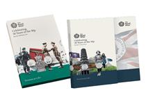 Includes two BU Packs issued by Royal Mint to commemorate the 50th Anniversary of the 50p - the British Culture pack & Military pack. 10 BU 50ps in total. Each pack in original Royal Mint packaging.
