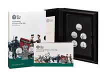 This set is issued by The Royal Mint to mark the 50th anniversary of the 50p. Your set is issued in Base Metal to a Proof finish and includes 5 iconic 50p designs. Mintage 3,500.