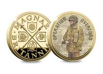 To mark the 75th Anniversary of D-Day the commemorative features a 6th Airborne Division Paratrooper with the official Limited Edition Commemorative Ingot logo and is gold plated. Edition Limit: 9,995