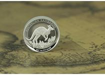 The Australia 2017 1oz Silver Proof High Relief Kangaroo was struck by the Perth Mint and comes in original packaging.