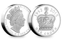 This United Kingdom Longest Reigning Monarch £5 Piedfort has been struck by the Royal Mint to commemorate Queen Elizabeth II's reign. Comes in Royal Mint packaging with certificate.