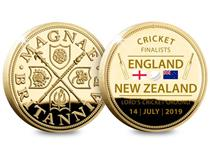 To celebrate England making it to the 2019 Cricket World Cup Final, a brand new Gold-Plated Medal has been released. Comes presented in a Deluxe Presentation Case. Edition Limit of just 2,019.