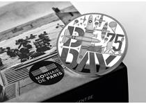 This 10 Euro coin by the Monnaie de Paris pays tribute to the 75th Anniversary of D-Day and the allied forces who fought. Struck from .9000 Fine Silver and is finished to Proof standard. EL 5,000.