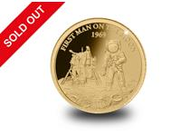 This 0.5g Gold Proof Coin has been issued to celebrate the 50th anniversary of the Moon Landing in 1969.