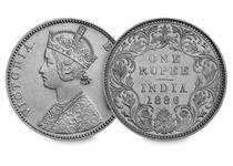An example of a silver rupee issued during the reign of Queen Victoria. It is a significant coin in history with Victoria being the first Empress of India. Comes with a certificate of authenticity.