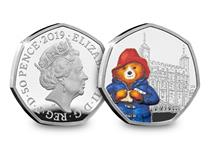 This 50p has been issued by The Royal Mint and it features Paddington at the Tower. Your coin has been struck from .925 Sterling Silver to a proof finish. It comes in official Royal Mint packaging.