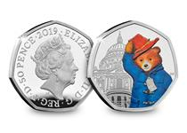 This 50p has been issued by The Royal Mint and features Paddington at St Paul's Cathedral. Your coin has been struck from .925 Sterling Silver to a proof finish. Comes in official Royal Mint packaging