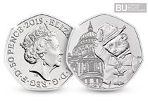 This is the fourth Paddington™  Bear 50p issued by The Royal Mint to celebrate the iconic 60th anniversary of the British Bear. This 50p is certified as superior Brilliant Uncirculated quality