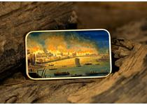 The Great Fire of London Ingot features a full colour image of the historical event that took place in 1666. The Ingot has been plated in 24 Carat Gold and has been struck to a proof finish.