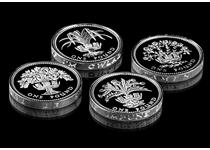This set celebrates the four nations of the United Kingdom by bringing together four coins issued to celebrate each country. Each coin is struck to proof standard and is issued in .925 Silver.