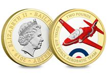 Official Red Arrows 2019 Silver Proof £2 Coin – fully approved by the RAF and the Red Arrows.