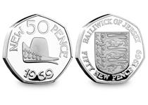 2019 is the 50th anniversary of the 50p coin going into circulation. This pair features a 50p from Jersey and Guernsey which have been struck from .925 Silver to a Proof Finish.