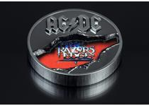 This 2oz Silver Dollar from the Cook Islands celebrates the band ACDC and their album 'The Razors Edge'.
