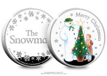 This brand new Silver medal features a scene from The Snowman, of The Snowman and James decorating a Christmas tree. The obverse features The Snowman logo and snowflakes.  EL:2019