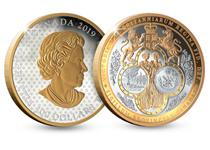 This coin has been issued by the Royal Canadian Mint to celebrate the Great Seal of the Province of Canada.