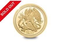 This pure gold Guardian Angel coin was issued by the Isle of Man and is smartminted with the popular Raphael Maklouf design.