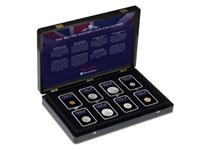 This collection includes 8 iconic British Coins, each one represents an iconic story or moment in British History. Comes complete in deluxe wooden presentation box with Certificate of Authenticity.