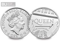 This £5 coin was issued as part of The Royal Mint's Music Legends series celebrating rock legends, Queen. This coin has been protectively encapsulated and certified as Brilliant Uncirculated quality.