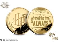 This Official Harry Potter Valentine's Day Commemorative features a quote from The Deathly Hallows Pt.2. It is 24ct gold-plated and is presented in a presentation box. Edition Limit: 2020