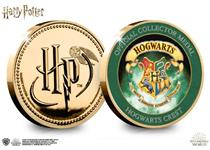 This official Harry Potter medal features on the reverse a full colour image of the Hogwarts Crest. The obverse features the Harry Potter logo.