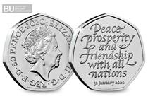 The Brexit 50p has been issued to commemorate the UK leaving the European Union on 31st January 2020. You can own the Official Brexit 50p in superior Brilliant Uncirculated quality today.