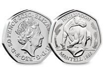 This BU 50p has been struck by the Royal Mint. It features an anatomically accurate depiction of an Iguanodon Dinosaur. This is the second coin in the Dinosauria 50p collection.