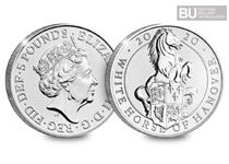 This 2020 UK White Horse of Hanover £5 is the eighth coin in The Royal Mint's Queen's Beasts Collection. Comes protectively encapsulated Official Change Checker packaging and certified as BU quality.