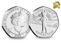 This coin issue commemorates the 100th anniversary of Rupert the Bear, who made his first appearance in the newspaper on 8 November 1920. The design features Rupert, with his name and denomination.