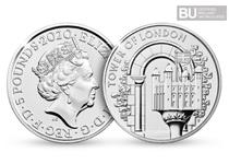 This £5 coin has been issued as part of The Royal Mint's The Tower of London Collection. It has been protectively encapsulated and certified superior Brilliant Uncirculated quality.