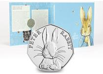 This Brilliant Uncirculated 50p was released as part of a set paying tribute to the work of Beatrix Potter.