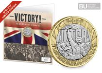 This exclusive Change Checker Display Card features VE Day themed artwork and the UK 2020 VE Day £2 which has been protectively encapsulated in Change Checker CERTIFIED BU Packaging, EL: 4,995.