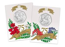 2020 marks the 75th anniversary of the liberation of the Channel Islands. This pair features a 50p from Jersey and Guernsey with design by Mike Guilfoyle of local flora and fauna.