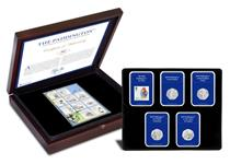 Your set includes all four UK Paddington 50p coins alongside a Paddington Bear First Class stamp. Also features full set of Philatelic Labels, each depicting Paddington with a quote from the books.