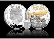 2020 marks the 80th Anniversary of the Battle of Britain. This Silver 5oz coin is struck from Pure .999 Silver and features a reverse designby Mike Guilfoyle inspired by an old war-time poster.