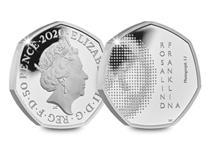 This UK 50p has been issued to commemorate Rosalind Franklin and her contributions to science. Struck from .925 Sterling Silver to a Proof finish. Presented in original Royal Mint presentation box.