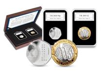 This set has been brought together to mark the discovery of DNA. Includes the NEW 2020 Silver Franklin 50p paired with the 2003 DNA Discovery £2 coin. Struck from .925 silver to a proof finish. EL: 50