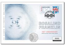 Your cover brings together The Royal Mint's UK 2020 Rosalind Franklin 50p alongside a Specially Commissioned Philatelic Label. Postmarked with the 100 year anniversary date, 25.07.20