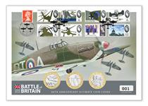 To mark the 80th Anniversary of the Battle of Britain this cover includes all three 2020 Jersey Battle of Britain £2 coins and the 1965 Battle of Britain 8v stamps. Postmarked 10.07.20. EL: 800