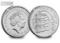 This is the second coin issued in The Royal Mint's 2020 The Tower of London Collection. It features The Royal Menagerie & is protectively encapsulated & certified as Brilliant Uncirculated quality.