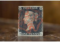 A used Penny Black, the first ever postage stamp in the world. This Penny Black is of standard quality ie much lower grade than that of K349 which is a fine used Penny Black with 3 clear margins.