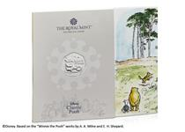 This BU Pack features the official Winnie the Pooh 50p issued by The Royal Mint. It has been struck to a Brilliant Uncirculated quality and comes presented in bespoke Royal Mint presentation pack.