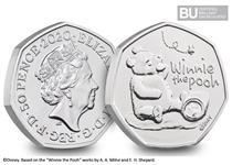 This Winnie the Pooh 50p has been issued by the Royal Mint, and is the first coin to be issued in the series to celebrate Winnie the Pooh.