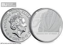 This £5 coin was issued as part of a series celebrating Britain's favourite secret agent, James Bond.