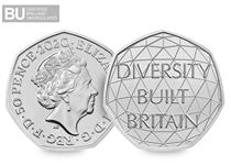 This 50p has been issued by the United Kingdom to celebrate British diversity. Comes in Change Checker CERTIFIED BU packaging.