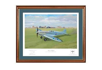 'First Flight' Framed Spitfire Print