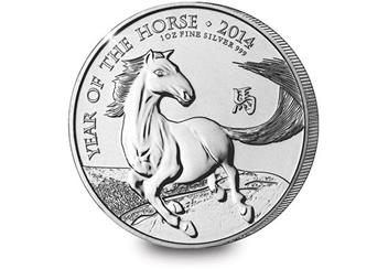 UK 2014 £2 Year of the Horse 1oz Silver Coin (1)